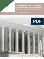 Dept of the Treasury Intl Programs FY2012