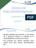 mochila de evacuación familiar