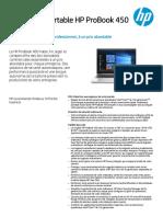 Fiche Produit  PC portable HP ProB 450 G7