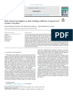 Finite element investigation on plate buckling coefficients of tapered steel members web plates