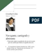 Buscar biografía de cristobar color