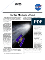 NASA Facts Stardust Mission to a Comet