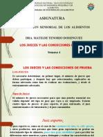 SESION N° 4 EVALUACION SENSORIAL DE LOS ALIMENTOS