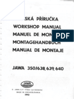 JAWA 350 Manual (638, 639 and 640)