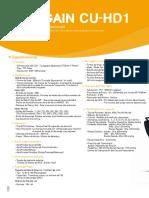 Desfibrilador- CU-HD1 de 360 J- Catálogo- Versión 1- Abr-14