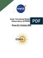 Solar Terrestrial Relations Observatory (Stereo) Press Kit