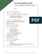 Structure des principaux comptes V2020