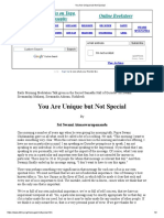 You Are Unique but Not Special.pdf