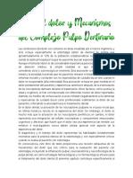Capítulo 8. Vías del dolor y Mecanismos del Complejo Pulpo Dentinario