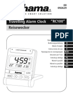 "Manual - Travelling Alarm Clock ""RC100 HAMA"