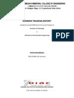 Summer Training Project Report - PLC