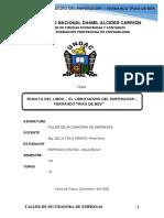 ENSAYO DEL LIBRO -  EL LIBRO NEGRO DEL EMPERADOR – FERNANDO TRÍAS DE BES (ESPINOZA CHAVEZ JHEYDI BENEDT)
