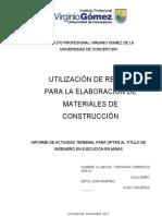 UTILIZACIÓN DE RELAVE PARA LA ELABORACIÓN DE MATERIALES DE CONSTRUCCIÓN