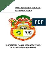 PLAN PROV DE ACCION DE SEGURIDAD CIUDADANA -  YAUYOS 2020