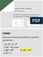 Clase 02- Matrices  transpuesta