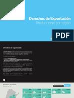 Infografia. Derechos de Exportacion - Produccion Por Region
