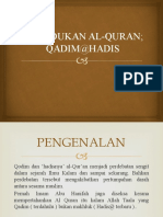 Kedudukan al-Quran  Qadim atau Hadith.pptx
