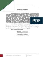 Registro de atendimento - LAERCIO DA SILVA NASCIMENTO