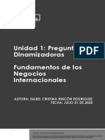 Preguntas Dinamizadoras Unidad 1 Fundamentos de los Negocios Internacionales