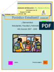 Periódico Estudiantil-Elpidio H  Rivera - Noviembre 2007