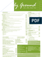 Freshly Ground Café Menu - Breakfast