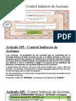 Artículo 105 - Control Indirecto de Acciones (1)