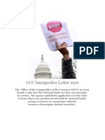 OCC Interpretive Letter No 1016 Preemption DENIED