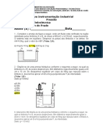 gabarito lista Instrumentação Industrial
