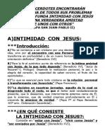 INTIMIDAD CON JESÚS Y AMISTAD SACERDOTAL