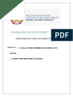 VALORACIÓN  DE SOLUCIONES-MAX ELEJALDER CHAVEZ HUAYANAY