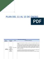 Plan Del 11 Al 15 de Enero