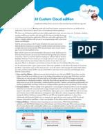 Custom Cloud Edition Comparison Datasheet