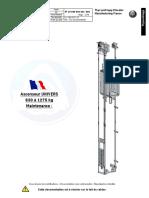 Ascenseur UNIVERS 630 à 1275 kg Maintenance - TEF-online