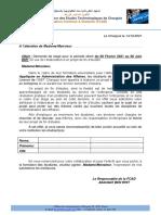 Demande PFE FCAD PME