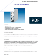 Caracteristique 6FC5220-0AA31-2AA0