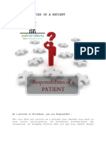 Responsibilities of a Patient