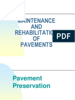 (LECTURE # 7) 12. Maintenance and Rehabilitation of Pavements =