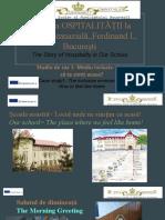 Povestea OSPITALITĂȚII la Școala Gimnazială,,Ferdinand I,, București-2.pptx
