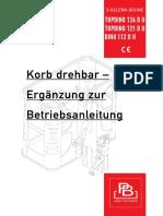 Korb Drehbar Ergänzung Zur Betriebsanleitung