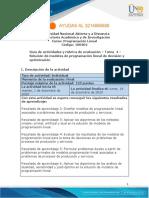 Guía de Actividades y Rúbrica de Evaluación - Tarea 4 - Solución de Modelos de Programación Lineal de Decisión y Optimización-2