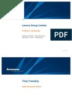 Lenovo Presentation