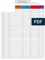 Control de Actividades Diarias Calificacion in Blank