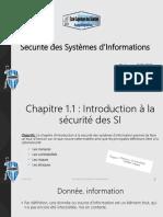Chapitre 1.1  Introduction à la sécurité des SI