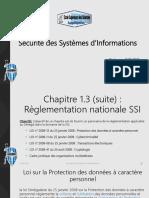 Chapitre 1.3 (suite)  Règlementation nationale SSI