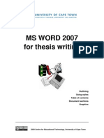 CET MS Advanced Word 2007 Training Manual v1.0
