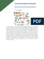 herramientas Google para la educación