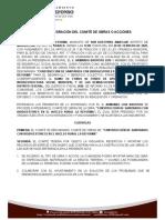 2. ACTA DE INTEGRACIÓN DEL COMITE DE OBRAS