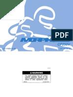 Yamaha Morphous 250 CP250V Owner's Manual