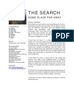 The Search - Some Place Far Away Press Release