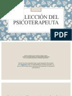 La elección del psicoterapeuta